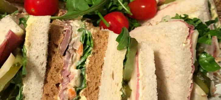 Funeral catering Sandwiches